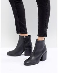 Pull&Bear - Pointed Toe Heeled Ankle Boot - Lyst