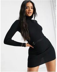 4th & Reckless Черное Вязаное Платье Мини -черный