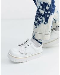 Kickers Low-stack Leather Shoes - White