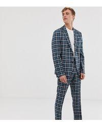 Noak Slim Sb2 Notch Suit Jacket In Check - Yellow