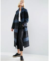 ASOS - Coat In Oversized Check - Lyst
