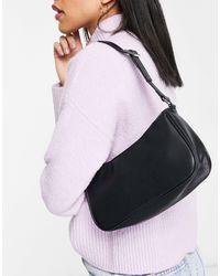 Monki Odessa Faux Leather Shoulder Bag - Black