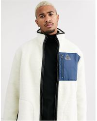 TOPMAN Borg Jacket - White