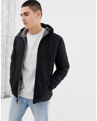 Jack & Jones Originals Reversible Padded Hooded Jacket In Black