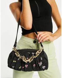 Skinnydip London Palmoa Pleated Shoulder Bag - Black