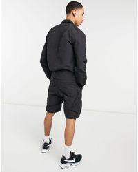 Marshall Artist – funktions-cargo-shorts aus polyamid-baumwollgewebe - Schwarz