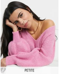 Y.A.S Petite Y.a.s. Petite Juliana Puff Sleeve Jumper - Pink