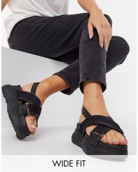 SELECTED Ollie Chunky Sandals - Black