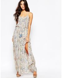 Pepe Jeans - Floral Maxi Dress With Tassel Belt - Lyst