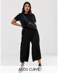ASOS Asos design curve - gonna pantalone plissé - Nero