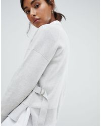 Jack Wills Wool Blend Knit With Buckle Detail - Grey