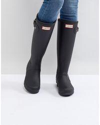 HUNTER Grandes bottes en caoutchouc authentiques - Noir