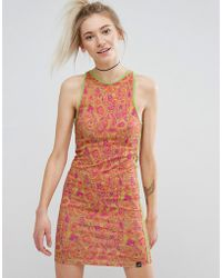 Illustrated People - Paisley Bodycon Dress - Lyst