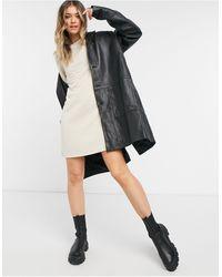 ONLY Vestito corto trapuntato con maniche 3/4 color pietra - Nero