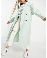 Pimkie Belted Trench Coat - Green