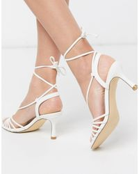 Truffle Collection - Sandales à brides et talons mi-hauts - Lyst