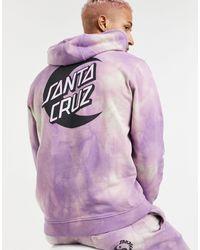Santa Cruz Moon Dot Mono Tie-dye Co-ord Hoodie - Purple