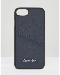 Calvin Klein Iphone 7 Phone Case With Logo - Metallic