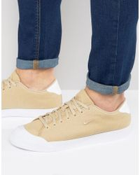 Nike - All Court Trainers In Beige 898040-200 - Lyst