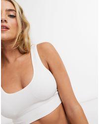 New Look Rib Seamless Crop - White