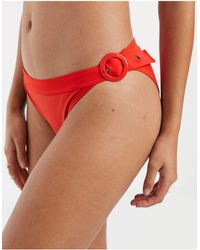 Y.A.S Moloki Buckle Detail Bikini Brief - Red