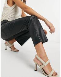 Vero Moda Leather Look Trousers - Black