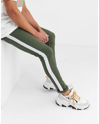 ASOS Super Skinny Jeans With Side Stripe - Green