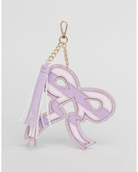 ASOS Asos Glitter Bow Key Ring With Tassel - Pink
