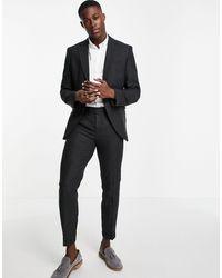 Jack & Jones - Premium - giacca da abito slim grigia di lana con motivo a spina di pesce - Lyst