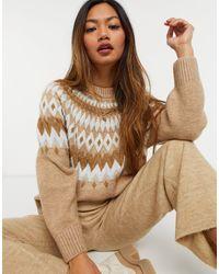 Mango Fairisle Patterned Sweater - Multicolor