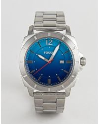 Fossil - Bq2344 Mens Stainless Steel Watch With Blue Dial - Lyst