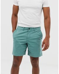 Abercrombie & Fitch Pantalones cortos chinos de corte slim - Verde