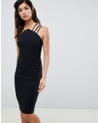 Vesper - Midi Dress With Strappy Detail - Lyst