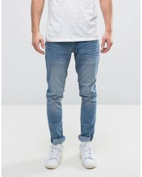 Solid - Slim Jeans In Light Blue Wash - Lyst