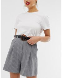 ASOS - Leather Tort Abstract Buckle Waist And Hip Belt - Lyst