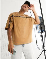 ASOS Camiseta extragrande - Marrón
