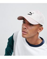PUMA - Logo Cap With Taping In Pink Exclusive At Asos - Lyst