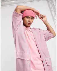 ASOS Фиолетовый Кардиган-кимоно В Стиле Милитари От Комплекта - Розовый
