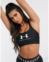 Under Armour Training Mid Impact Logo Bra - Black