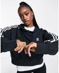 adidas Originals Черный Короткий Худи Adicolor - Белый