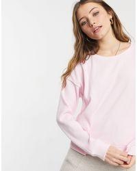 Chelsea Peers Jersey Rib Balloon Sleeve Lounge Top - Pink