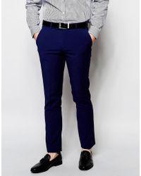 Ben Sherman Plain Suit Pants - Blue