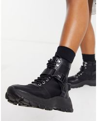ASOS Anderson Sporty Hiker Boots - Black