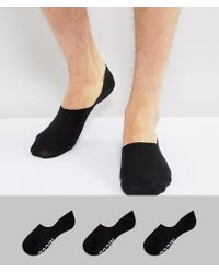 Nicce London - Nicce 3 Pack Invisible Socks In Black - Lyst
