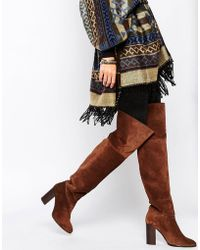Mango - Suede Over The Knee Boot - Lyst