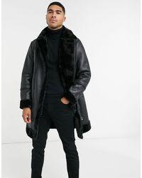 Urbancode Longline Bonded Aviator Jacket - Black