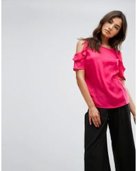 B.Young - Ruffle Sleeve Top - Lyst