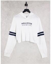 Hollister Long Sleeve Logo Hoodie - White