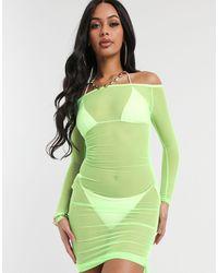 South Beach Облегающее Платье С Открытыми Плечами -зеленый Цвет