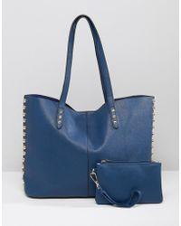 Yoki Fashion - Shopper Tote Bag - Blue - Lyst